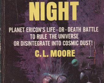 Judgement Night, Paperback Library Science Fiction Novel, , by C. L. Moore, 1965, fair shape