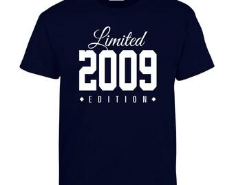 2009 Limited Edition Birthday Tshirt, Kids 7th Birthday Tshirt, Children's Birthday Tshirt, Gift for Child Birthday TH-2009Ts