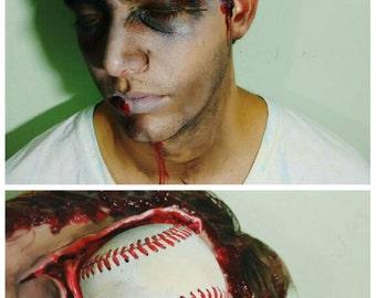 Baseball Zombie Halloween Prosthetic