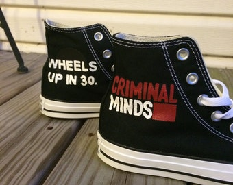 Hand Painted Criminal Minds High Top Shoes