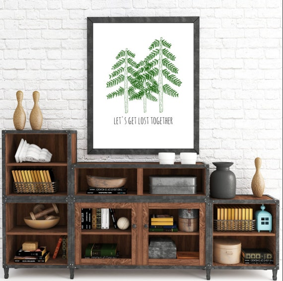 Let's Get Lost Together. 8x10 Quote. Tree Art. Home Decor Print. Instant Digital Download. Printable Wall Art - ADOPTION FUNDRAISER