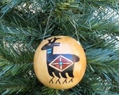 Southwestern Hand-painted Gourd Christmas Ornament #277G Deer