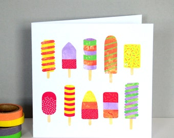 Ice Lollies Greetings Card