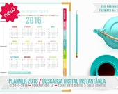 Planner 2016 in Spanish - 480 printable pages A4 - Instant Digital Download