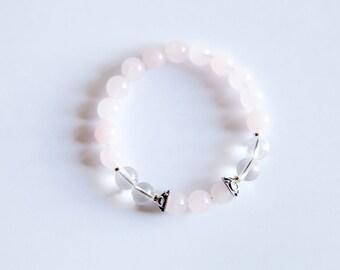 Taurus Bracelet Crystal Quartz Bracelet Rose Quartz Bracelet Zodiac Bracelet Meditation Bracelet Boho Bracelet Zodiac Jewelry Mala Bead