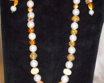 Orange and Pearls