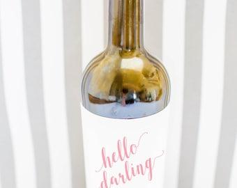 Wine Label - Hello Darling