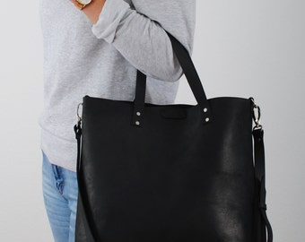 Leather bag DAILY | Black
