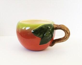 Vintage Apple Shaped Mug
