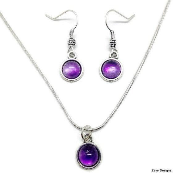 amethyst jewelry set amethyst earrings amethyst by