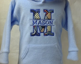 Personalised Babies/Toddlers Fleece Hoody/Hoodie Embroidered with Babies Name