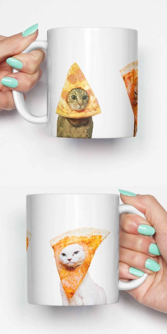 Pizza Cats - funny mug, gifts for him, meme mug, unique mug, office mug, housewarming gift, gifts for her 4P040A