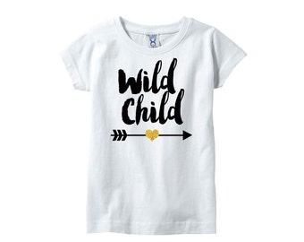 Wild Child girls tshirt, Girls trendy shirt,