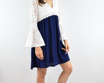 Sale Eloges Lace bell sleeve mini dress S to XL