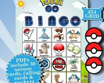 POKEMON GO 4x4 Bingo printable PDFs contain everything you need to play Bingo.