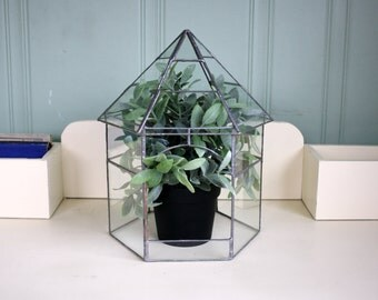 Glass Terrarium Geometric Indoor Green House Gardening House Plants
