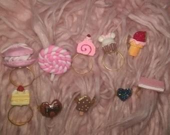 Sweet Kawaii Lolita Adjustable Ring