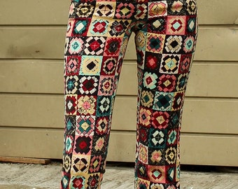 Vintage Moschino illustrated Trousers UK6-8