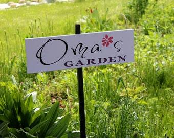 Garden Sign - My Garden - personalized sign: insert any name or nickname!  Nana, Oma, Mimi, Grandma, Abuela, Grammy