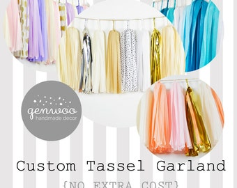 Custom Tassel Garland, Custom Garland, Custom Wedding Decor, Custom Nursery, GenWoo, Baby Shower, Custom Prop, Photo Backdrop, Cake Smash