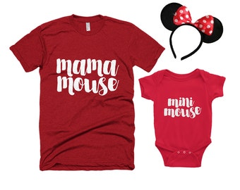 Minnie Mouse Set // Mama Mouse // Mini Mouse // Matching Outfits // Mommy and Me // Minnie Mouse Outfit // The Busy Bee