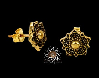YAMI Brass Studs - Tiny Studs - Small Studs - Tribal Studs - Indian Studs - Ethnic Studs - Tiny Earrings - Small Earrings - Brass Earrings