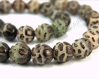 Buri Nut Beads, 5 pcs Buri Seed Beads, (12mm) Natural Buri Beads, Buri Palm Natural Beads, Buri Round Nut Beads, Round Nut Beads, Buri Beads