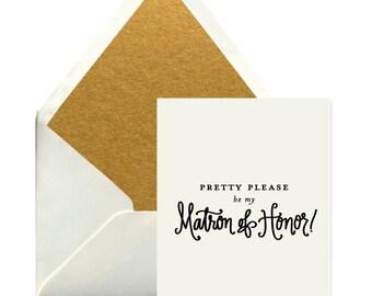 Matron of Honor Card