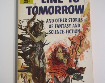 Line to Tomorrow by Lewis Padgett Bantam Books #1251 1954 Vintage Science Fiction Paperback