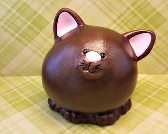 Adorable Brown Kitty Piggy Bank, Cat Piggy Bank, Kitty Piggy Bank, Kitten Piggy Bank, Piggy Bank, Baby Piggy Bank, Baby Shower Gift