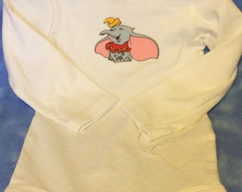 White long sleeve Dumbo onesie - 18 month