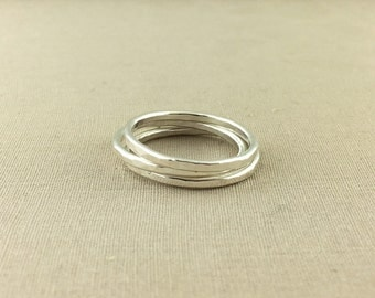 Stacking Silver Ring // sterling silver stacking rings, plain silver band, sterling silver ring, hammered silver ring, silver midi ring