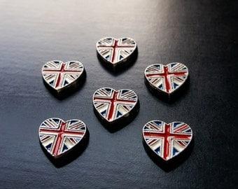 British Flag Heart Floating Charm for Floating Lockets-Gift Idea