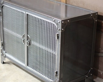 Industrial Furniture / Steel Cabinet / TV stand / Kitchen storage / Night Stand / Cupboard / Metal furniture / Iron mesh