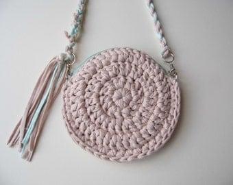 Moon Bag, Crocheted & Handmade