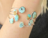 Bohemian Jewelry, Bohemian Turquoise Bracelets, Turquoise and Silver Cuff Bracelet, Boho Bracelets, Summer Jewelry, Gift for Her