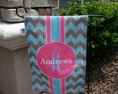 Garden Flag - Personalized Garden Flag - Personalized Yard Flag - Rustic Chevron  - Wedding Gift - Housewarming Gift - Double Sided Flag