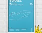 Luis Suarez vs Paraguay Giclee Print