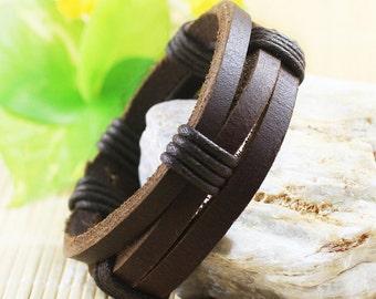 Mens Bracelets, Best Selling Masculine High Quality Leather Bracelet, A Simple, Stylish Statement Maker BST-119