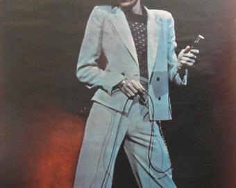Original 1974 RCA David Bowie Promotional Poster for the Album 'David Live'.