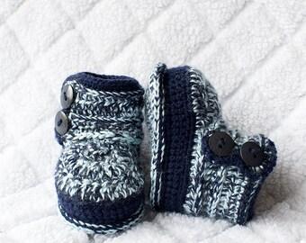 Winter Booties, Boy Shoes, Boy Booties, Baby Boy Shoes, Winter Baby Shoes. Boy Winter Shoes, Photo Prop, Boy Boots, Crochet Boy Boots, Baby