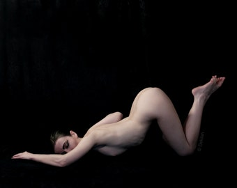 Bowing to the Moon // Art Nude // 8x10 signed print // Self Portrait Photography