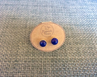 Luxuriant Lapis Lazuli Stud Earrings - September birthstone