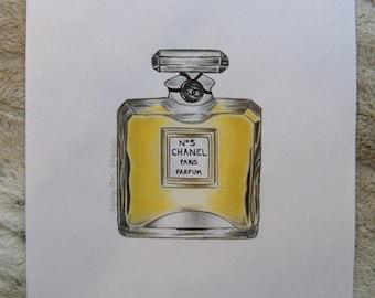 Original Chanel N0. 5 Illustration