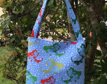 Mr. Grinch Fabric Purse, Shoulder Bag, Theme Purse, Tote Bag,Gifts, Diaper Bag, Book Bag, Lunch Bag