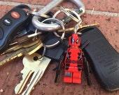 Marvel Deadpool Lego Styled Mini-Figure Key Chain With Custom Gift Box