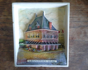 Leeuwarden Waag: Dutch three dimensional plaster wall plaque