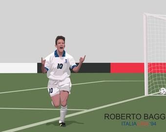 Roberto Baggio poster