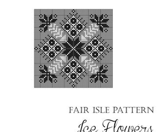 "Nordic Christmas knitting pattern ""Ice Flowers"""