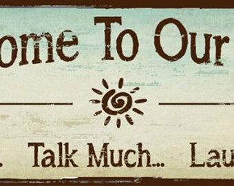Sun Protected Welcome to Our Patio Metal Sign, outdoor living, Rustic Decor    HB7695SP